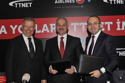 Türk Hava Yolları'nın Gökyüzündeki İnternet Erişimi TTNET'e Emanet